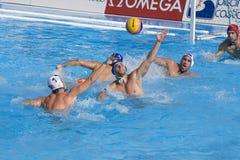 WPO:  USA v Macedonia, 13th Światowi Aquatics mistrzostwa Rzym 09 Zdjęcia Stock