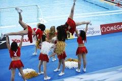 WPO: Wereld Aquatische Kampioenschappen - de V.S. versus Griekenland Royalty-vrije Stock Afbeelding
