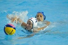 WPO: Wereld Aquatische Kampioenschappen - de V.S. versus Griekenland Royalty-vrije Stock Fotografie