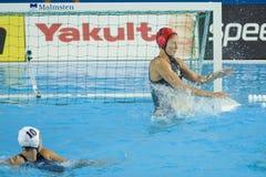 WPO: Wereld Aquatische Kampioenschappen - de V.S. versus Griekenland Stock Foto