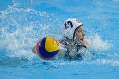 WPO: Wereld Aquatische Kampioenschappen - de V.S. versus Griekenland Stock Fotografie