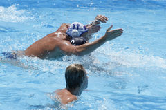 WPO: Wereld Aquatische Kampioenschappen - de V.S. versus Roemenië Royalty-vrije Stock Afbeelding