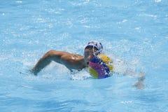 WPO: Wereld Aquatische Kampioenschappen - de V.S. versus Roemenië Stock Foto's