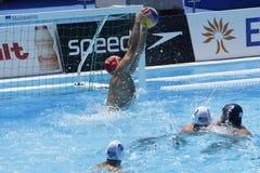 WPO: Wereld Aquatische Kampioenschappen - de V.S. versus Roemenië Stock Fotografie