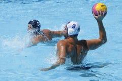 WPO: Wereld Aquatische Kampioenschappen - de V.S. versus Roemenië Stock Afbeeldingen
