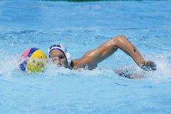 WPO: Wereld Aquatische Kampioenschappen - de V.S. versus Roemenië Royalty-vrije Stock Foto