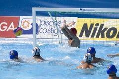 WPO: Światowy Aquatics mistrzostwo - Niemcy vs Montenegro Zdjęcie Royalty Free