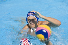 WPO: Światowy Aquatics mistrzostwo - usa vs Chorwacja Obraz Royalty Free
