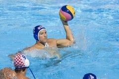 WPO: Światowy Aquatics mistrzostwo - usa vs Chorwacja Obrazy Stock