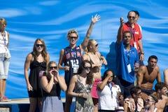 WPO: Światowy Aquatics mistrzostwo - usa vs Chorwacja Zdjęcia Royalty Free
