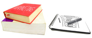 Wprowadzać na rynek książki Zdjęcia Stock