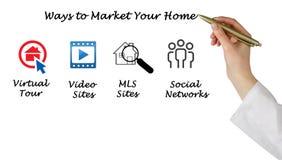 Wprowadzać na rynek twój dom zdjęcia royalty free