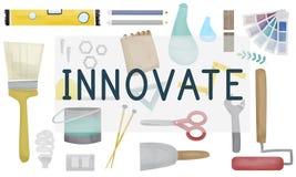 Wprowadza innowacje dążenie rozwoju pomysłów wzroku pojęcie ilustracja wektor