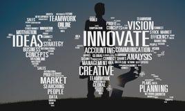 Wprowadza innowacje inspiraci twórczości pomysłów postępu pojęcie obrazy stock