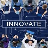 Wprowadza innowacje technologia obwodu deski Futurystycznego pojęcie Zdjęcie Royalty Free