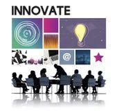 Wprowadza innowacje technologii cyberprzestrzeni sieci pojęcie Fotografia Stock
