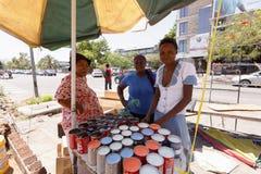 Wprowadzać na rynek na ulicie w Francis miasteczku, Botswana Fotografia Stock