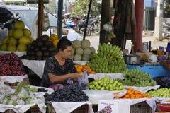 Wprowadzać na rynek w Inle jeziorze, shanu stan, Myanmar Obrazy Stock