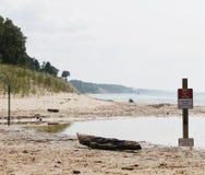 Wpust przy plażą Obraz Stock
