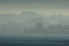 wpusta mgłowy ranek Zdjęcia Royalty Free