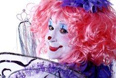 wróżki kobieta klaun Obrazy Royalty Free