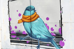 Wróbli graffiti Fotografia Stock