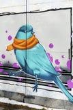 Wróbli graffiti Zdjęcia Stock