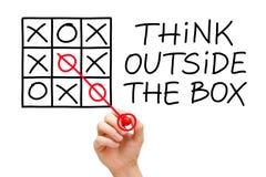 Myśli Outside pudełko Zdjęcie Stock