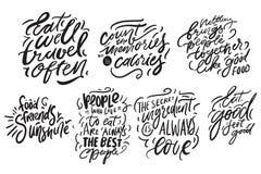 Wręcza literowanie dla kuchni, kawiarnia, menu ilustracja nowoczesnej ilustracja wektor