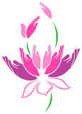 Wręcza lotosu ilustracji