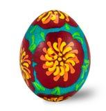 Wręcza malującego Easter jajko odizolowywającego w białym tle z ścinek ścieżką Obraz Royalty Free