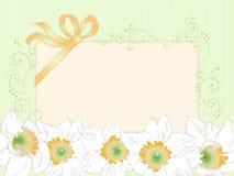Wręcza patroszoną horyzontalną kartę, rocznik, art deco styl Fotografia Royalty Free