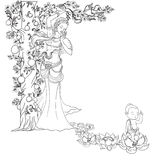 Wręcza patroszonego dziecka Buddha urodzony z Lotus i matkuje ilustracja wektor