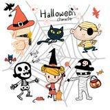 Wręcza patroszonego Halloweenowego trikowego lub fundy kostiumu charakteru ilustracja wektor