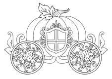 Wręcza patroszonego końskiego fracht bania z ornamentem odizolowywającym na bielu dla karty dla lub plakata wakacyjnego thanksgiv royalty ilustracja