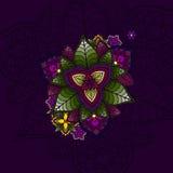 Wręcza patroszony mandala, kurenda barwiący wzór dla Fotografia Royalty Free