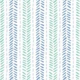 Wręcza patroszonych plemiennych herringbone ściegi na białego tła wektorowym bezszwowym wzorze Świeży abstrakcjonistyczny geometr royalty ilustracja