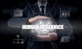 Wręcza przewożenie biznesmena ikony sieć - HR, HRM, MLM, pracy zespołowej i przywódctwo pojęcie, Obrazy Royalty Free