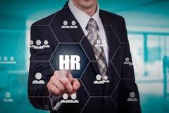 Wręcza przewożenie biznesmena ikony sieć - HR praca zespołowa i przywódctwo pojęcie Obraz Stock