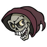 Wręcza rysunek Chłodno nowożytna Halloweenowa czaszka Obraz Stock