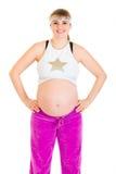 wręcza sportswear ciężarnej kobiety biodrom Obraz Royalty Free