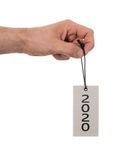 Wręcza trzymać etykietkę 2020 - nowy rok - Obraz Stock