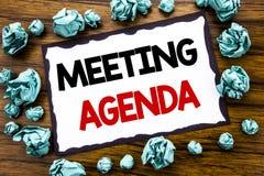 Wręcza writing teksta podpisu inspirację pokazuje spotkanie agendę Biznesowy pojęcie dla Biznesowego rozkładu planu pisać na klei Zdjęcia Stock