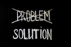 Wręcza writing teksta ` problem i rozwiązania ` na chalkboard zdjęcia royalty free