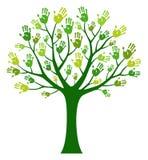 Wręcza drzewa ilustracja wektor