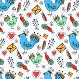 Wręcza patroszonym ptakom wzór Fotografia Stock