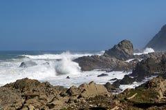 Wrażenia wybrzeże na przylądku Dobra nadzieja, Południowa Afryka Fotografia Stock
