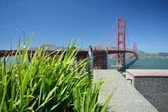Wrażenia od Golden Gate Bridge w San Fransisco od Maja 2, 2017, Kalifornia usa Zdjęcia Stock