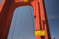 Wrażenia od Golden Gate Bridge w San Fransisco od Maja 2, 2017, Kalifornia usa Fotografia Royalty Free