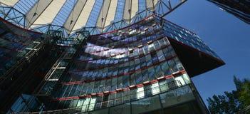 Wrażenia od Sony centrum przy Potsdam kwadratem, Potsdamer Platz w Berlin od Czerwa 1, 2017, Niemcy Obraz Royalty Free